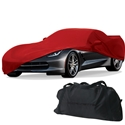 C7 Corvette Stretch Satin Car Cover w/C7 Flags Logo - Indoor : 2014+ C7