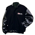 Corvette Jacket - Varsity Jacket w/Lamb Sleeves Embroidered with Z06 505HP Emblem : 2006-2013 Z06