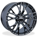 C7 Corvette Z06 Style Reproduction Wheels : Black Chrome