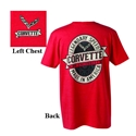 C7 Corvette Legendary Speed T-shirt : Red - 2014,2015,2016,2017