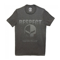 2014, 2015, 2016, 2017, C7 Corvette Racing Respect - Jake Skull Tee : Heather Dark Gray