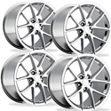 Corvette Wheels - 2009 C6Z06 Spyder Style Reproduction (Set): Chrome C5 C6 Z06 Grand Sport