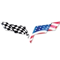 2005-2013 C6 Corvette American Flag Emblem Decal Overlay,Z06,ZR1,Grand Sport