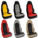 Corvette Seat Cover - 2-Tone Custom Leather - Modified for Standard Seats : 1997-2004 C5 & Z06