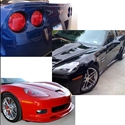 Corvette ZR1 Style Ground Effects Package Custom Painted : 2006-2013 Z06, Grand Sport