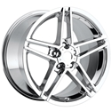 Corvette 2006 Z06 Chrome Reproduction Wheels for C5 C6 Z06