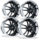 Corvette Custom Wheels - WCC 947 EXT Forged Series (Set) : Black w/ Chrome Lip
