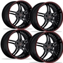 WCC Forged 946 EXT : Black / Red Stripe C5, C6, C6-Z06