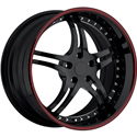 Corvette Custom Wheels - WCC 946 EXT Forged Series : Gloss Black with Red Stripe