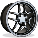Corvette Black Chrome Wheel Exchange GM (Set) : 2001-2004 Z06