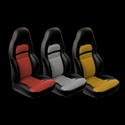 Corvette Seat Cover - 2-Tone Custom Vinyl - Modified for Sport Seats : 1997-2004 C5 & Z06