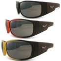 Corvette Sunglasses with C6 Logo - Solar Bat Style 100