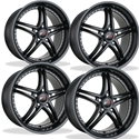 Corvette Wheels - SR1 Performance Wheels / BULLET Series (Set) - Semi-Gloss Black : 18x8.5/19x10 1997-2013 C5,C6