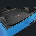 Corvette Coupe Cargo Mat - 60th Anniversary in Flags w/Red Corvette Letters : C6, Z06, Grand Sport & ZR1- Ebony