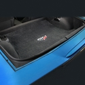 Corvette Convertible Cargo Mat - Velourtex 60th Anniversary above Flags : C6 or Grand Sport - Ebony