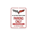 C6 Emblem Corvette Parking Sign