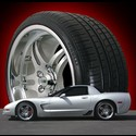 Corvette 97-06 C5/C6/Z06 Custom Split 5 Spoke 19x10 / 19x11 Wheel & Pirelli Tire Pkg.