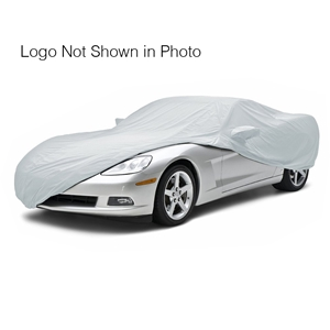 Corvette Car Cover - Autobody Armor - C6 Flags Logo & Corvette Letters - Grey : C6 2005-13