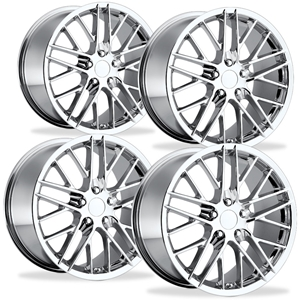 Corvette Wheel - 2009 ZR1 Style Reproduction (Set) : Chrome C5, C6, Z06, ZR1, Grand Sport